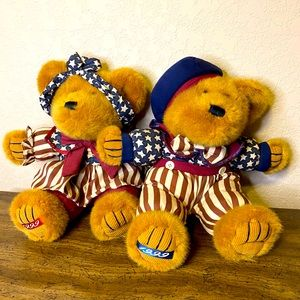 VINTAGE Teddy Bear Couple